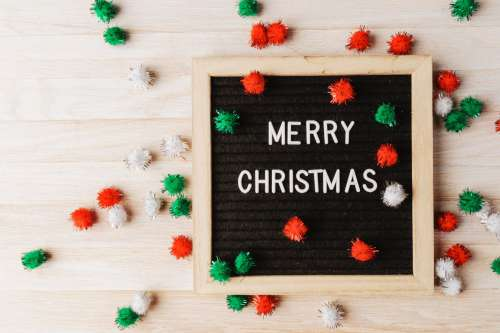 Letter Board With The Words Merry Christmas Photo