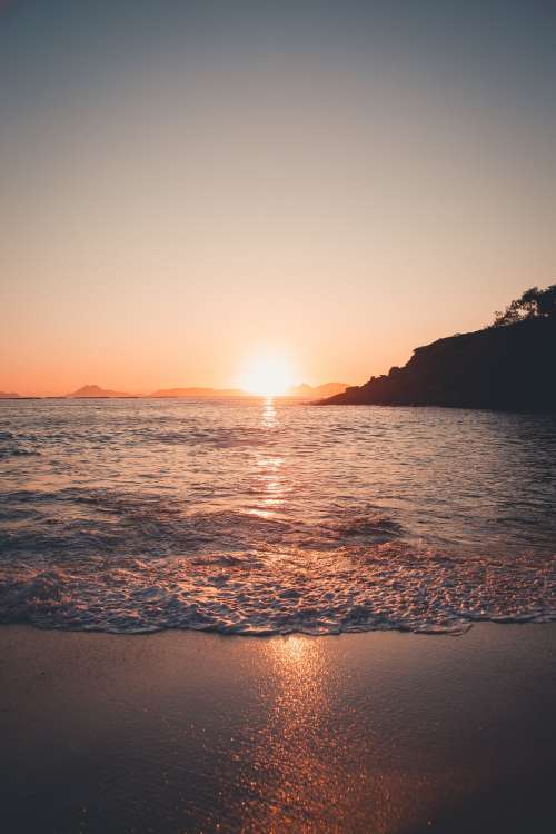 Sunlight Ducks Below The Horizon Photo