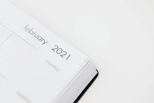 2021 planner on a desk