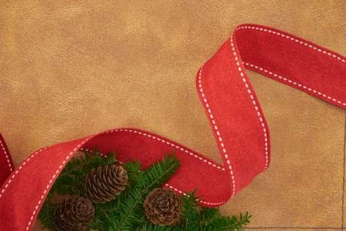Christmas Background Ribbon Free Photo