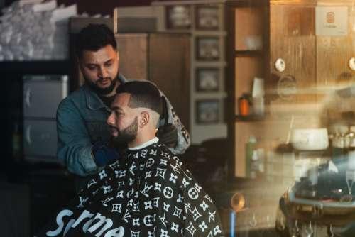 Window View Of A Barbershop Photo
