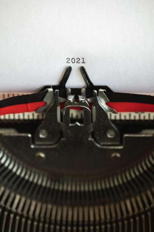 The Year 2021 Typewritten Photo