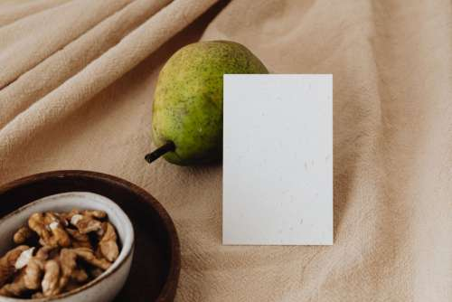 Maracuya & Pear -  stock photos for mockups - business card - flyer