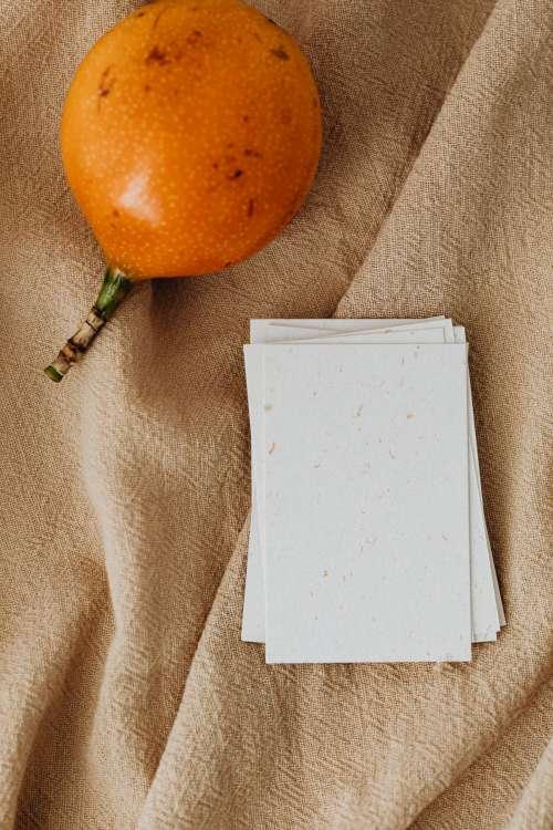 Maracuya & Pear -  stock photos for mockups - business card - flyer