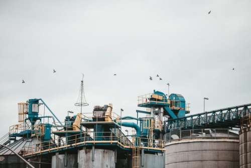 Industrial Complex Oil Free Photo