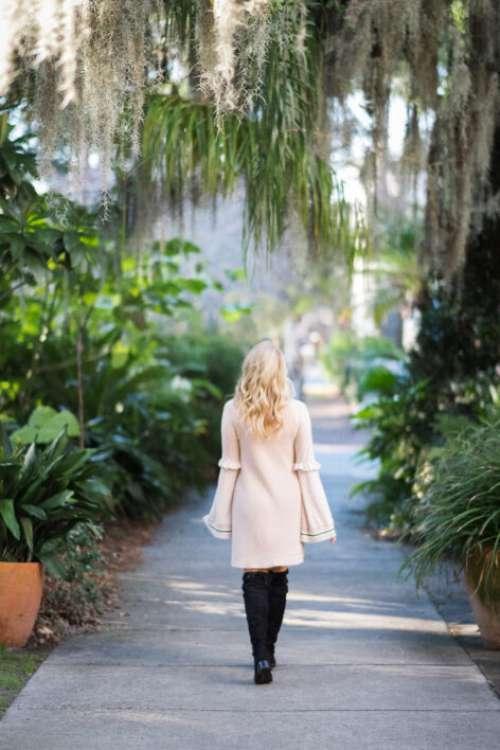 Woman Walking Away Free Photo