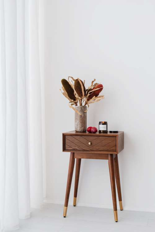 Candle in a jar - plums - furniture