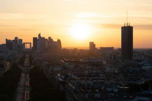 City Sunset Cityscape Free Photo