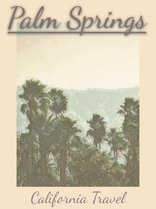 Vintage Travel Poster Palm Springs