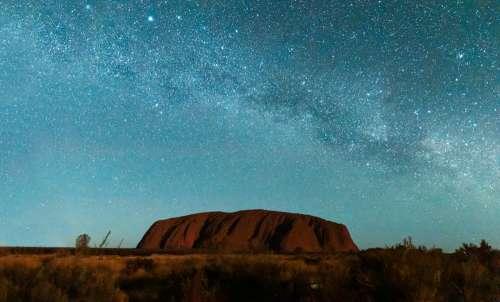 Uluru under the Milky Way