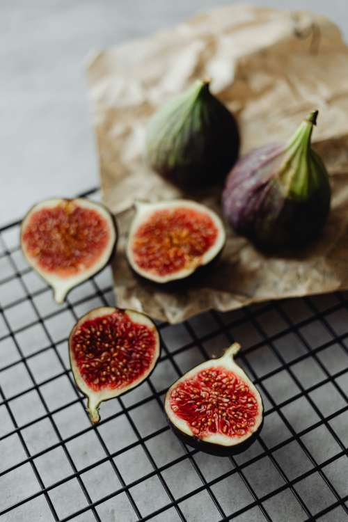 Beautiful and fresh red coloured figs